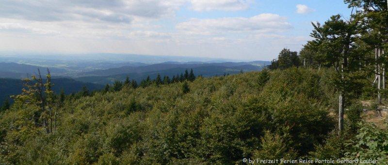 Bayerischer Wald Wandern am Hirschenstein Aussichtspunkt