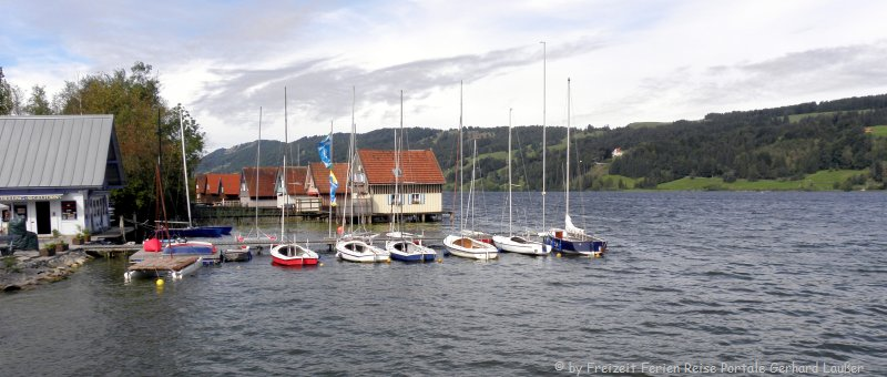 Ausflugsziele Alpsee Segelboote