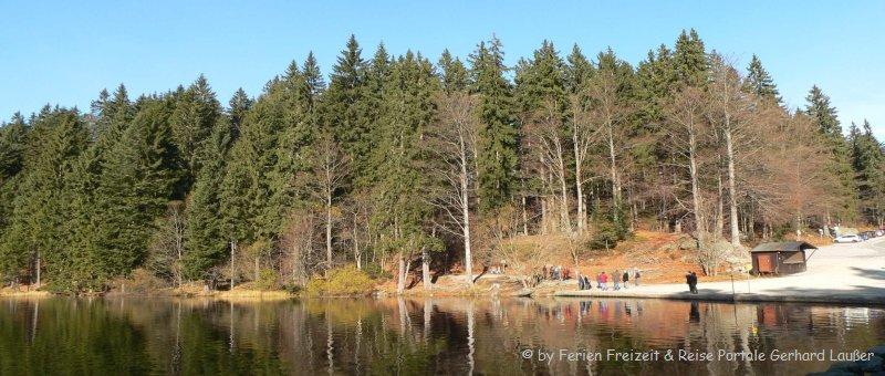 Wandern am großen Arbersee Bayerischer Wald