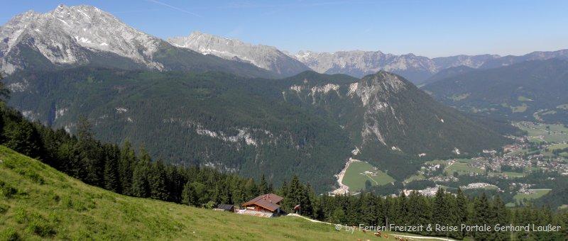 Berchtesgadener Alpen sehenswertes Landschaft Ausblick