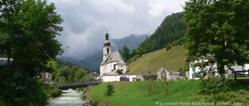 Oberbayern Sehenswürdigkeiten Ramsau Ausflugsziele Bergdorf