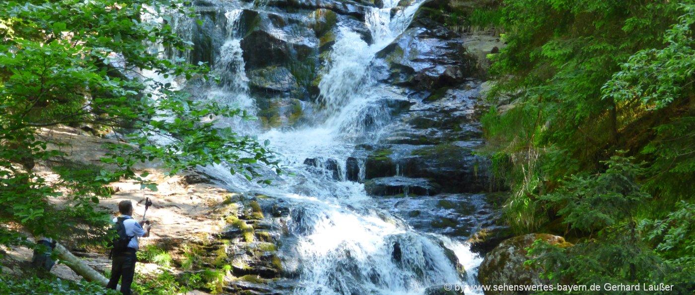 Risslochwasserfalle Wanderung Bodenmais Bayerischer Wald Wandern