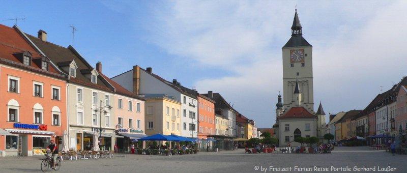 Freizeitmöglichkeiten Deggendorf Einkaufen am Stadtplatz