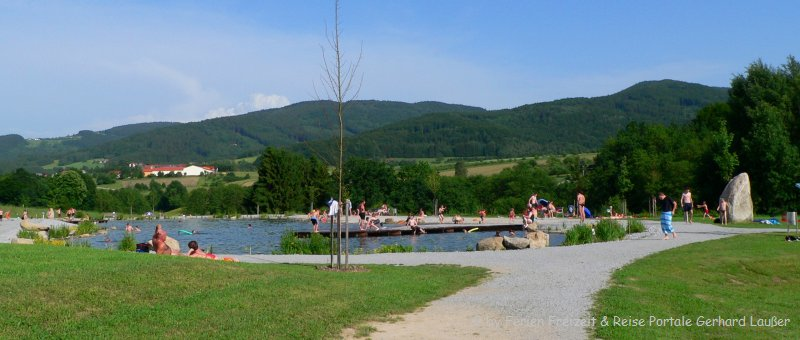 Lalling Feng-Shui-Park Bayerischer Wald Naturbadesee