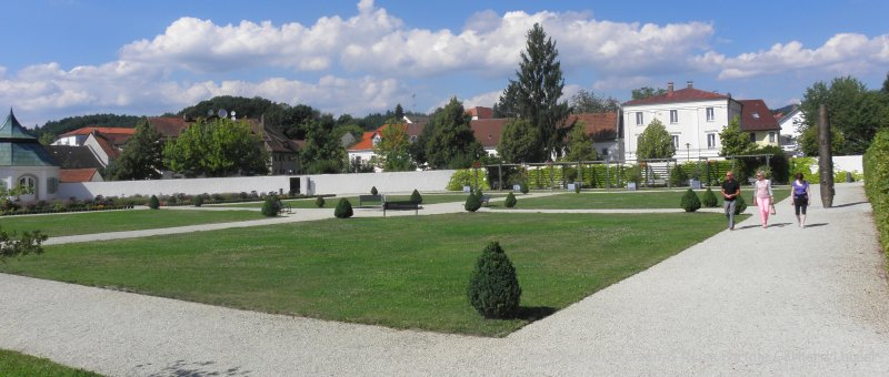 Niederbayern Kloster Metten Prälatengarten