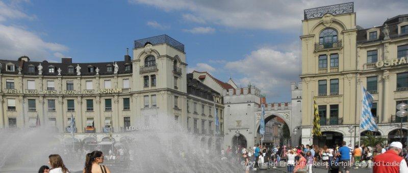 Bild vom Stachus einer der bedeutenden Sehenswürdigkeiten in München