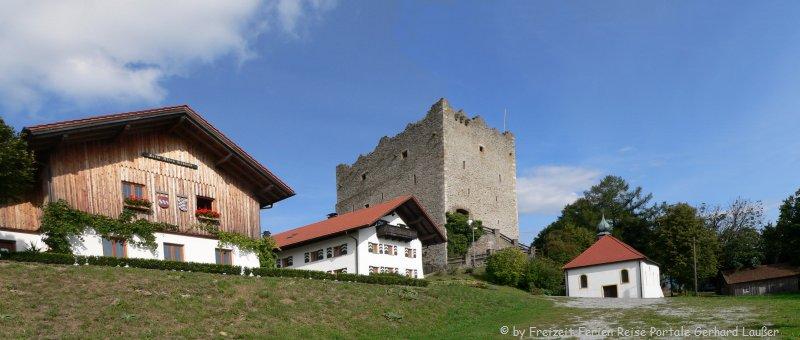 Burgen in Bayern Neunussberg Burgfestspiele Burgansicht
