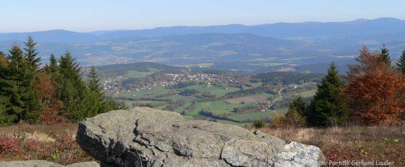 Wandern Pröller Berg Sankt Englmar Bayerischer Wald Aussicht