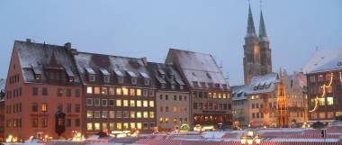 Sehenswürdigkeiten Franken Ausflugsziele Christkindlesmarkt Nürnberg